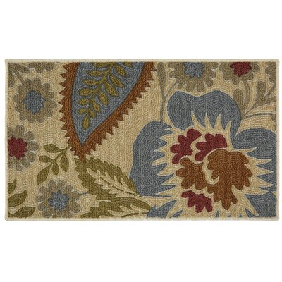 Russellville Soho Crewel Floral Spice Beige Area Rug Rug Size: 16 x 26