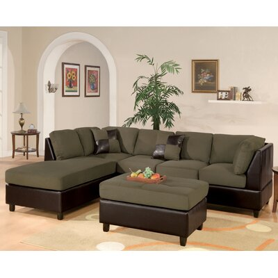 Andover Mills ANDO1876 26282083 Corporate 112″ Reversible Chaise Sectional Sofa Upholstery