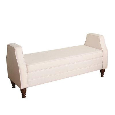 Raubsville Upholstered Storage Bedroom Bench Upholstery Color: Soft Blush