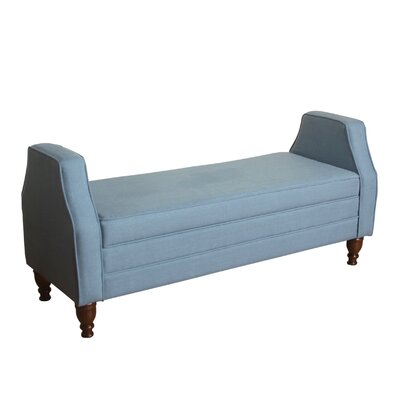 Raubsville Upholstered Storage Bedroom Bench Upholstery Color: Washed Chambray