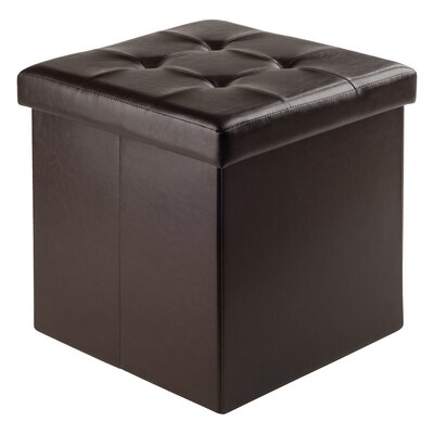 Rebersburg Ottoman with Storage Upholstery: Brown