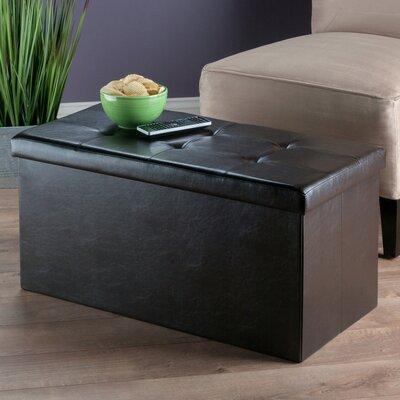 Rebersburg Storage Ottoman Upholstery: Brown