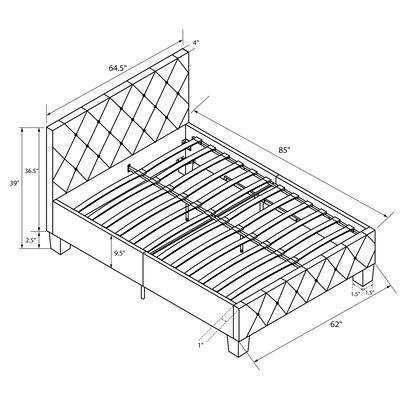 Salina Upholstered Platform Bed Size: King, Color: White