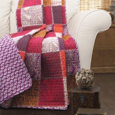 Redfield Patchwork Cotton Throw Blanket