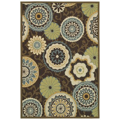 Richford Hand-Woven Blue/Green Indoor/Outdoor Area Rug Rug Size: Runner 26 x 86