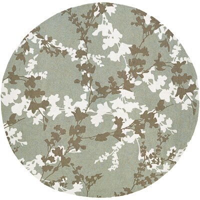 Mccall Willow Branch Hand-Woven Sage Indoor/Outdoor Area Rug Rug Size: Round 710
