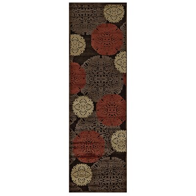Cherine Dark Chocolate Area Rug Rug Size: Runner 26 x 8