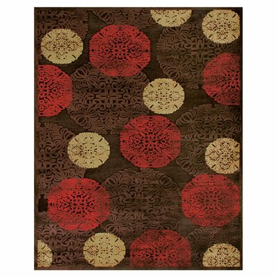 Cherine Dark Chocolate Area Rug Rug Size: 98 x 127