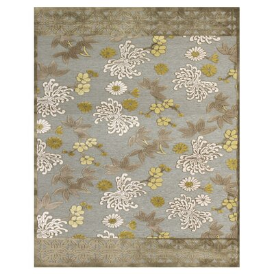 Cherine Pewter & Dark Green Area Rug Rug Size: 98 x 127
