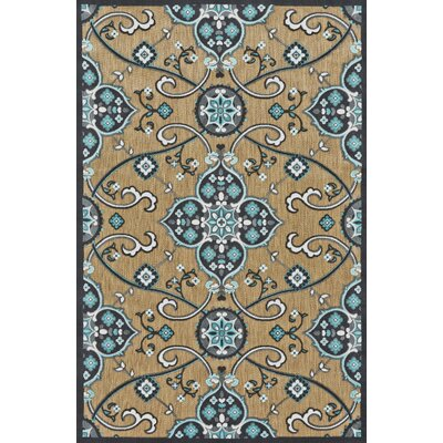 Southview Blue/Beige Indoor/Outdoor Area Rug Rug Size: Rectangle 5 x 76