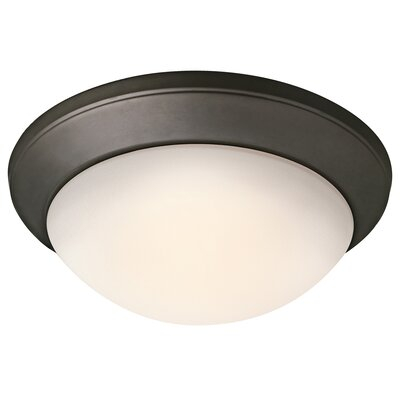 Sharonville LED 1-Light Flush Mount Finish: Old Bronze