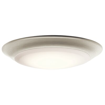 Shaws LED 1-Light Flush Mount Finish: Brushed Nickel