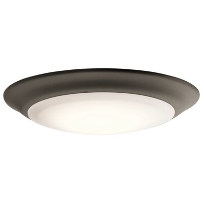 Shaws LED 1-Light Flush Mount Finish: Old Bronze