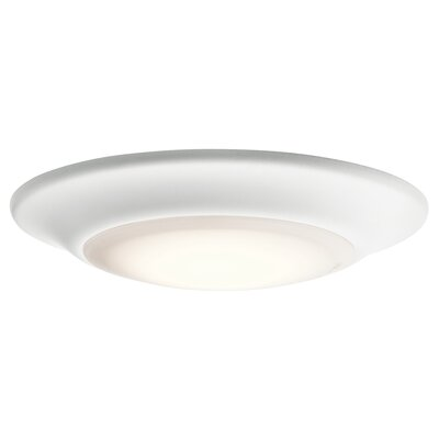 Shaws LED 1-Light Flush Mount Finish: White