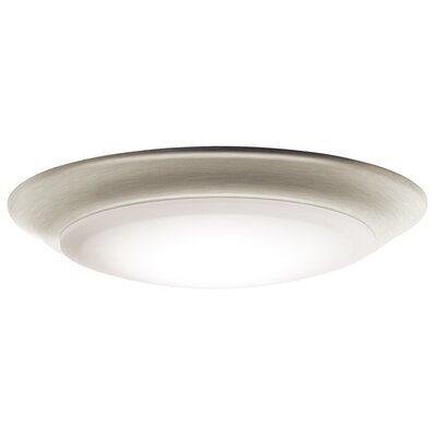 Kathleen LED 1-Light Flush Mount (Set of 12) Finish: Brushed Nickel