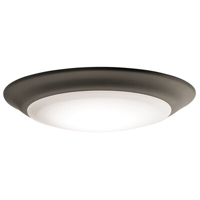 Kathleen LED 1-Light Flush Mount (Set of 12) Finish: Old Bronze