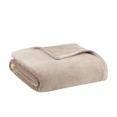 Stanton Ultra Premium Plush Blanket Color: Tan, Size: Full/Queen