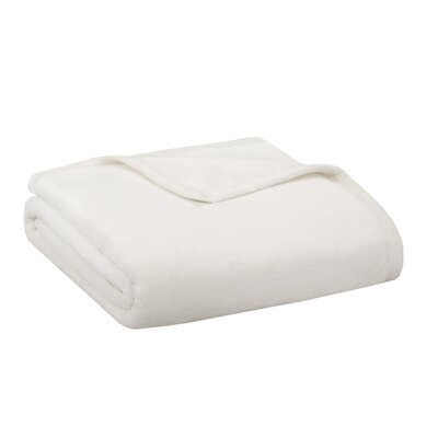 Stanton Ultra Premium Plush Blanket Size: Full/Queen, Color: Ivory