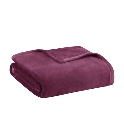 Stanton Ultra Premium Plush Blanket Size: Twin, Color: Burgundy