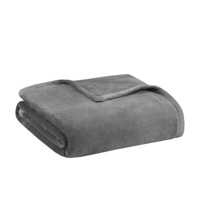Stanton Ultra Premium Plush Blanket Size: Twin, Color: Grey