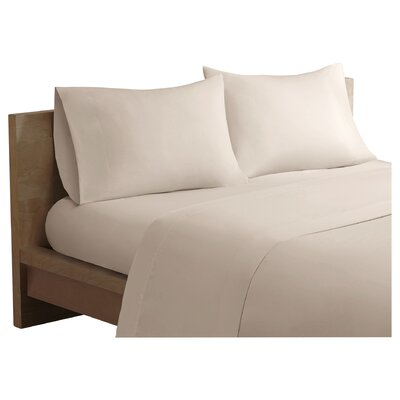 Salem Forever Percale 200 Thread Count Cotton Sheet Set Size: Twin, Color: Ivory