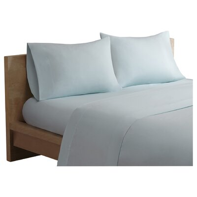 Salem Forever Percale 200 Thread Count Cotton Sheet Set Size: King, Color: Seafoam