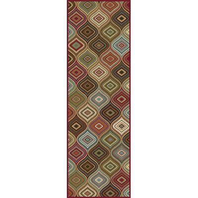 Calhoun Cream/Brown Area Rug Rug Size: Runner 23 x 11
