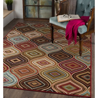 Calhoun Cream/Brown Area Rug Rug Size: Rectangle 311 x 53