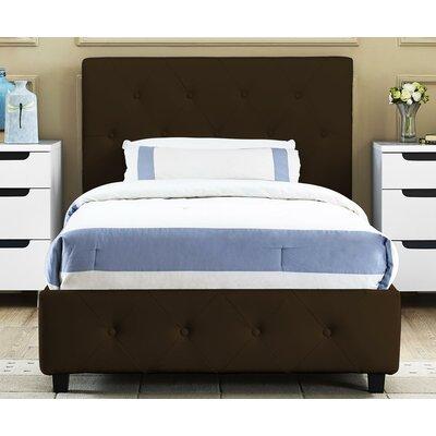 Salina Upholstered Platform Bed Size: Full, Color: Brown