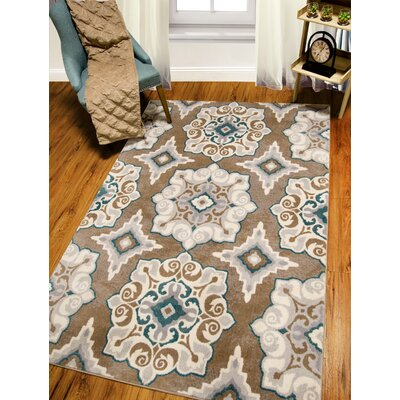 Natural Taupe Area Rug by Andover Mills