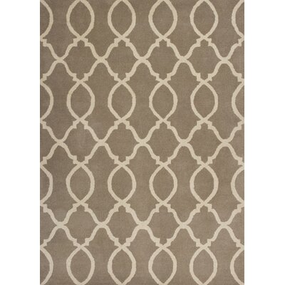 Johnsonville Hand-Tufted Wool Beige Area Rug Rug Size: 33 x 53