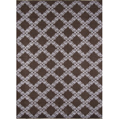 Jarrett Hand-Woven Brown/White Area Rug Rug Size: Rectangle 36 x 56