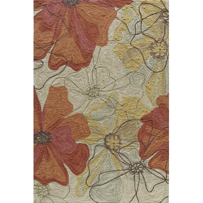 Unionville Hand-Woven Cream/Brown Area Rug Rug Size: Rectangle 36 x 56