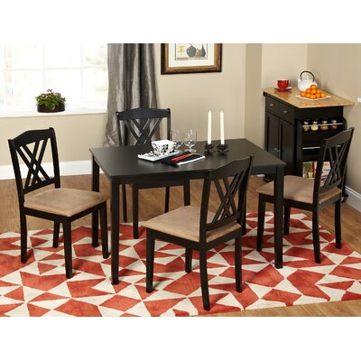 Rhinebeck 5 Piece Dining Set Finish: Black