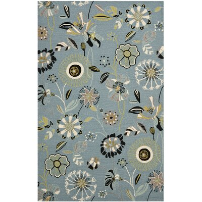 Doyle Blue Outdoor Area Rug Rug Size: Rectangle 36 x 56