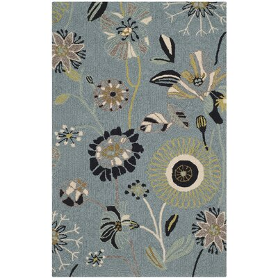 Doyle Blue Outdoor Area Rug Rug Size: Rectangle 26 x 4