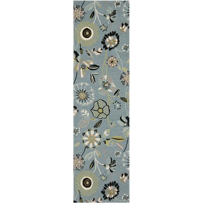 Doyle Blue Outdoor Area Rug Rug Size: Runner 23 x 6