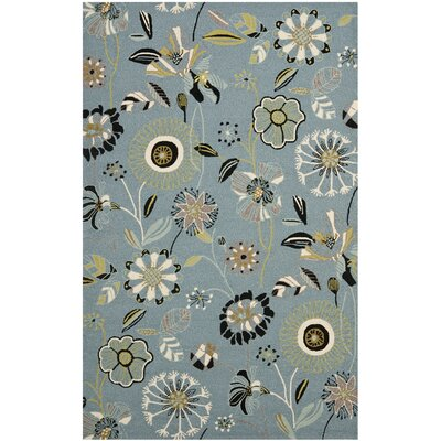 Doyle Blue Outdoor Area Rug Rug Size: Rectangle 23 x 39