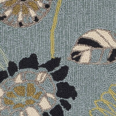 Doyle Blue Outdoor Area Rug Rug Size: Square 6