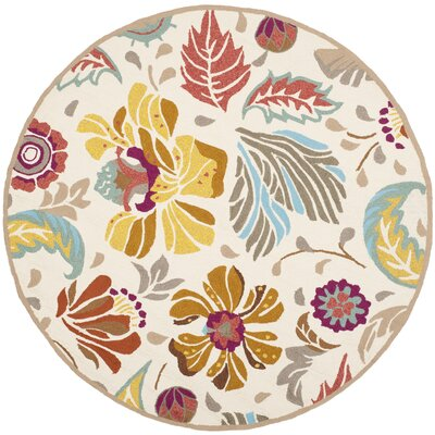 Doyle Indoor/Outdoor Area Rug Rug Size: Round 4