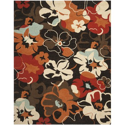 Ridgefield Black/Orange Outdoor Area Rug Rug Size: 8 x 10