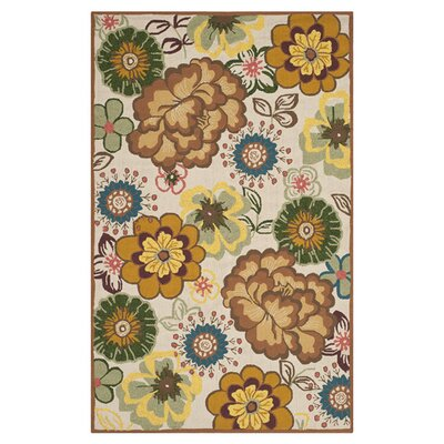 Doyle Ivory/Brown Outdoor Area Rug Rug Size: 8 x 10