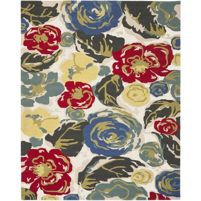 Doyle Ivory Indoor/Outdoor Area Rug Rug Size: 4 x 6