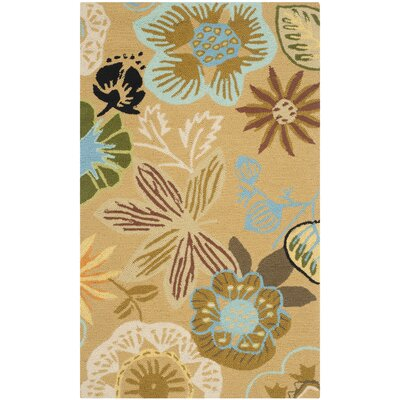 Doyle Taupe Indoor/Outdoor Area Rug Rug Size: 36 x 56