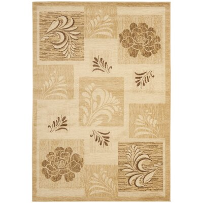 Southampton Ivory Squared Area Rug Rug Size: 53 x 76