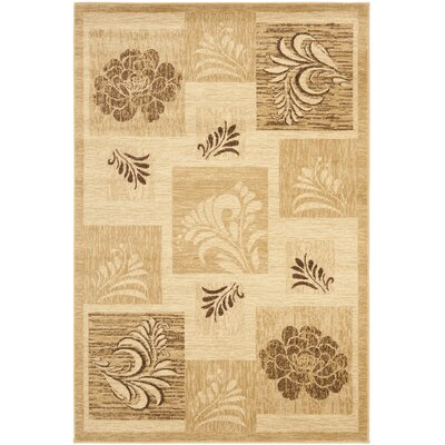 Southampton Ivory Squared Area Rug Rug Size: Rectangle 4 x 6