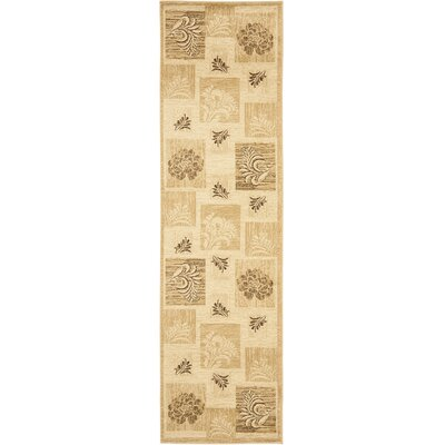 Southampton Ivory Squared Area Rug Rug Size: Runner 23 x 12