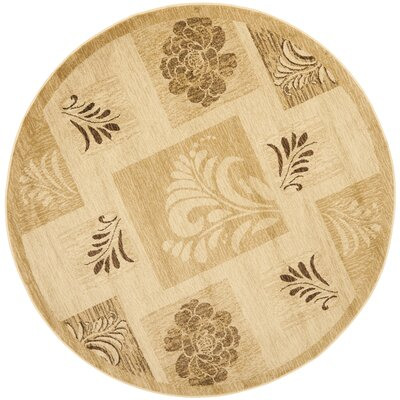 Southampton Ivory Squared Area Rug Rug Size: Round 53