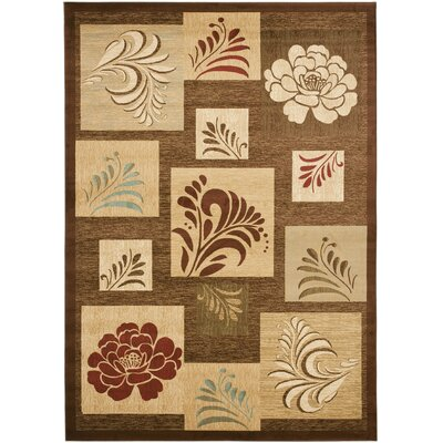 Southampton Brown Squared Area Rug Rug Size: Rectangle 89 x 12
