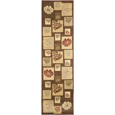 Southampton Brown Squared Area Rug Rug Size: Runner 23 x 16